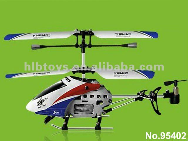 3.5-Channels Mini Indoor Helicopter,3 Channel 3CH Remote Control RC GYRO Super Mini Metal Helicopter #GA-100