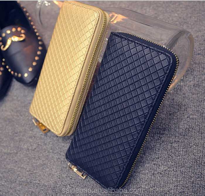 Elegant Ladies Wallet / Purses with Zipper Closure for Women