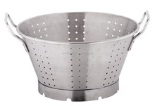 Stainless steel big size commercial colander rice strainer