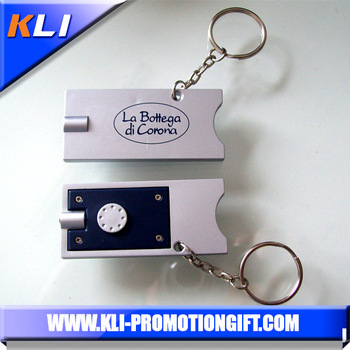 mini led light new product trolley coin keychain