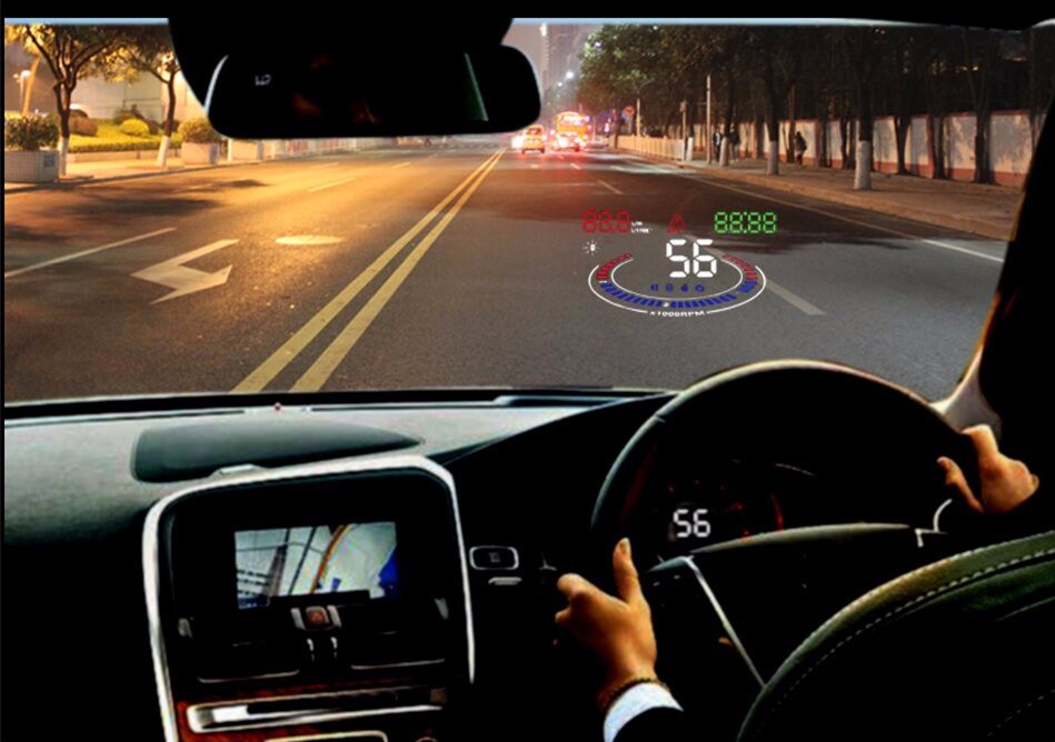 E300 Car HUD Head Up Display For Auto Part With Multifunction