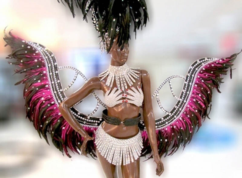 fashion Carnival costume showgirl feather backpieces feather backpack angel wings pheasant feather costume
