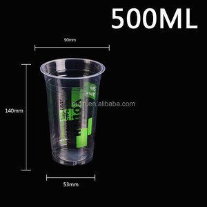 Custom disposable transparent beer plastic cup for hot and cold drinking