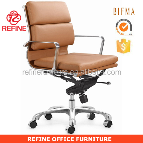 mid back brown leather office ames softpad chair RF-S067B