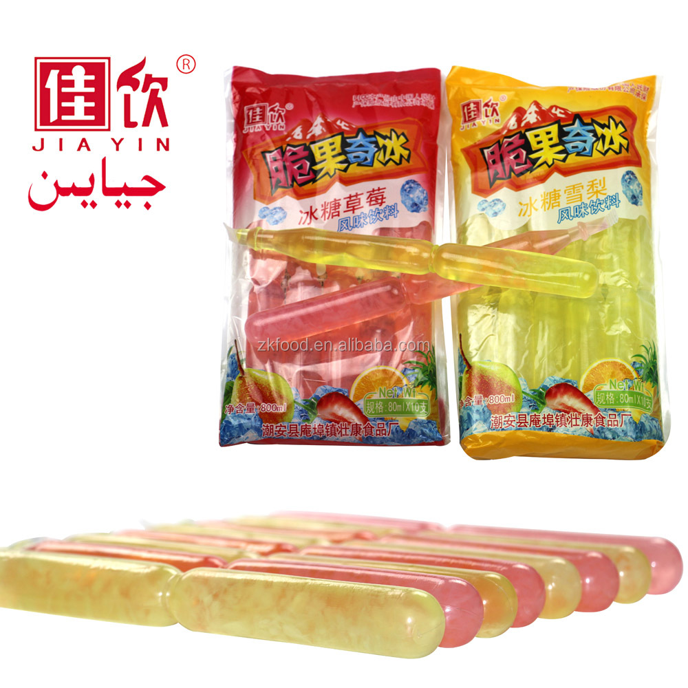 Fruity flavor 80ml jelly stick ice pop