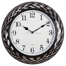 large metal young town quartz analog calendar wall clock
