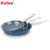 3 pcs Aluminum marble coating non stick round fry pan cookware set as seen on tv