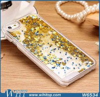 Mobile Phone Accessories Liquid Glitter Star Case for iPhone 6 4.7 Inch