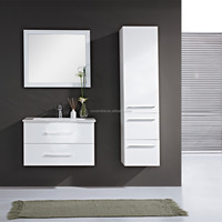 Small Hanging Bathroom Cabinets , Wall Hung Vanity Unit, Bathroom Mirror Vanity