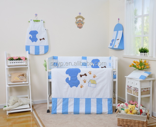 100%Cotton baby cot bedding/Embroidery baby quilt /Kids bedding Set