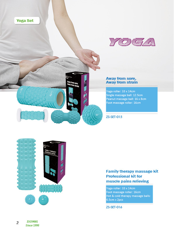 Zhensheng hollow core foam roller massage kit