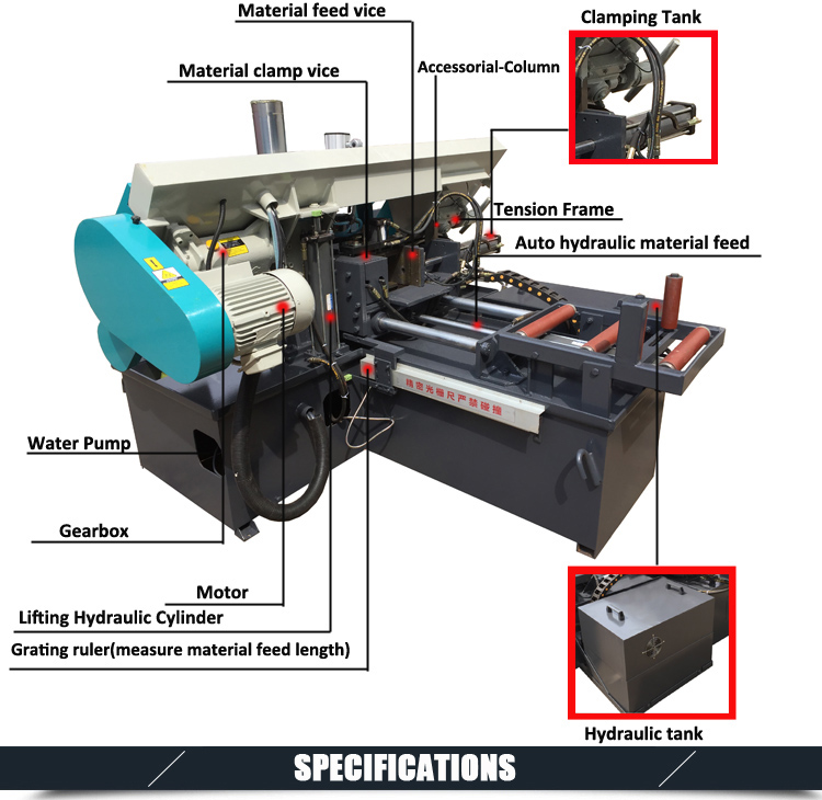 CNC Automatic Horizontal Metal Band Sawing Machine