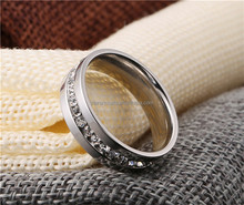 Hot sale stainless steel ring with crystal stone,wholesale rings jewelry