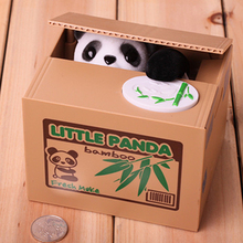 Wholesale electronic stealing money coin cat panda piggy bank