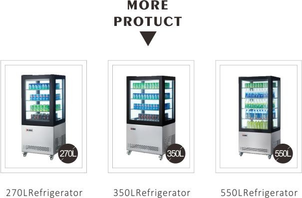 100L to 600L Commercial Glass Door Upright Display Showcase Refrigerator
