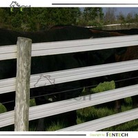Safe easy to install plastic/vinyl/pvc animal fence factory price
