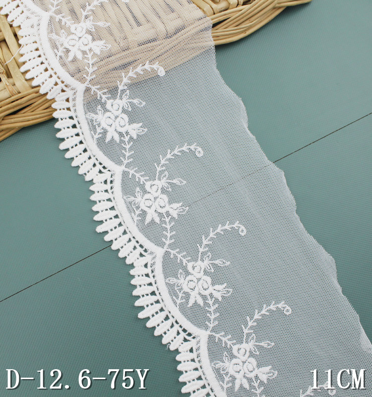 Bridal lace accessories white cotton lace trim