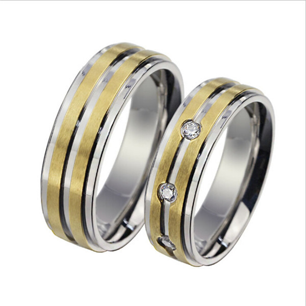 Yiwu Aceon New Coming Trend OEM/ODM Unisex 18k gold Sandblast Men Ring Couple Rings