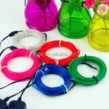 Wholesale Cool remote control Electroluminescent el wire, EL Neon wire clothes For Christma Party Decoration
