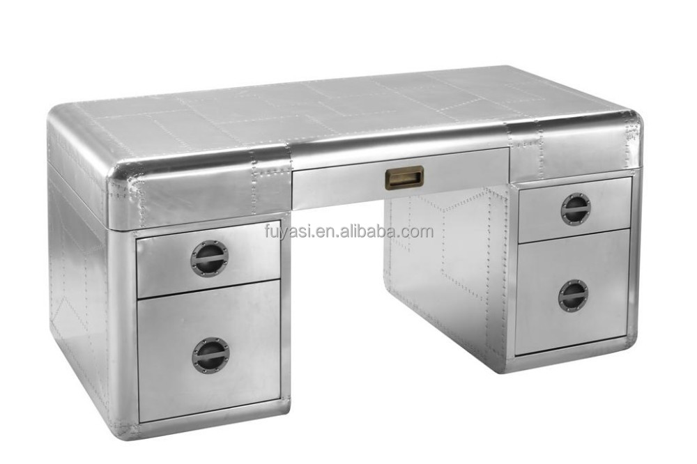 Aluminum Office Desk Writing Aviator Office Desks Design Desktop