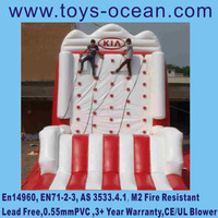 advertising inflatable rock climbing wall toys for kids and adults
