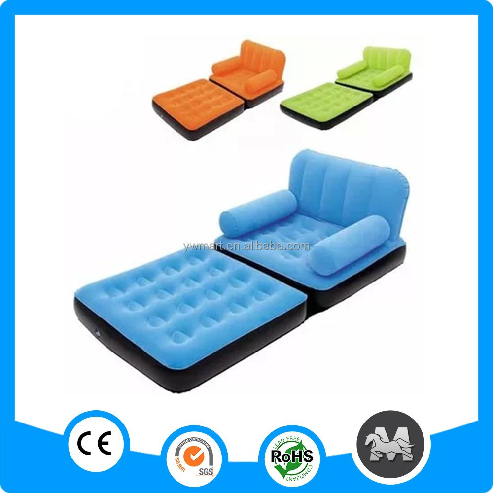 Inflatable furniture for kids - Mutil Colors Folding Pvc Inflatable Sofa Bed