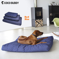 Durable denim fabric dog bed pet dog sofa for outdoor and indoor with pp cotton padding 3 sizes