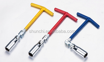 china cheap price T handle spark plug wrench with PVC coat handle