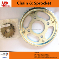 Brazil Motorcycle Sprocket, Crown Wheel and Pinion, YBR125 Motorcycle Pinion 14T Crown 43T