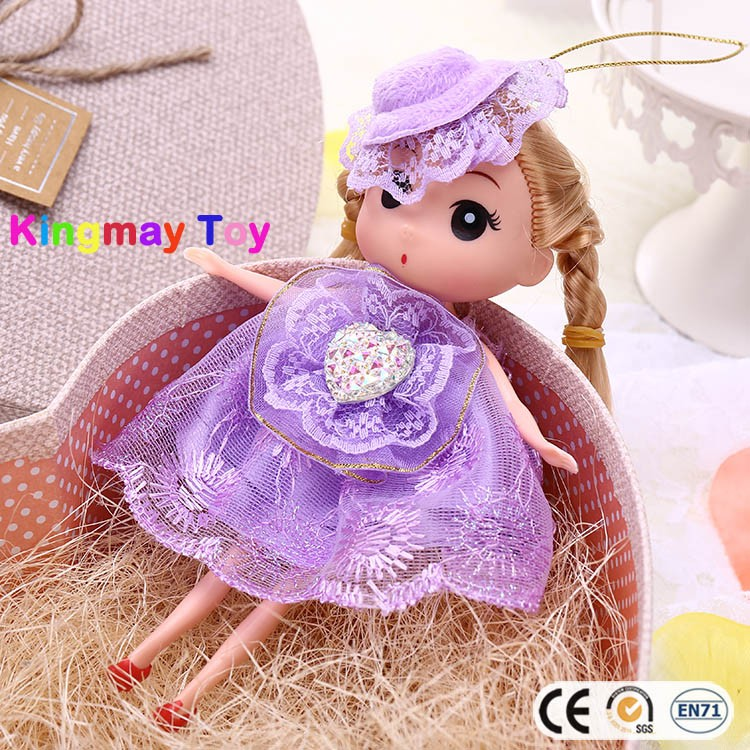 Mini cartoon doll cute toy doll Lovely plastic doll for kids
