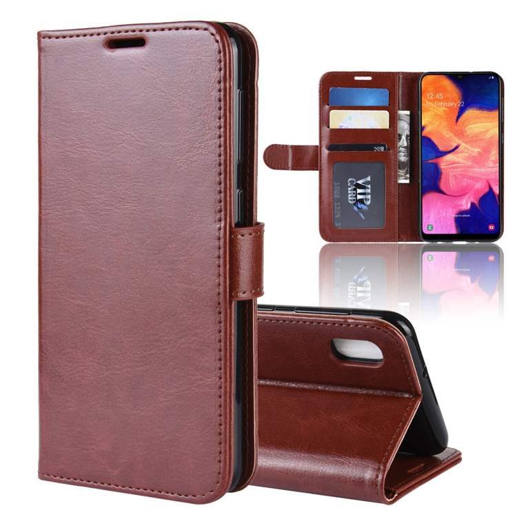Crazy Horse Leather Flip Wallet case for Samsung Galaxy <strong>A10</strong>