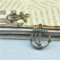 Jewelry Making Charms bronze Boat Anchor Findings Beading Crafting Pendant from yiwu supplier