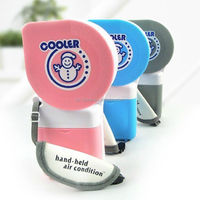 Fashion design super mini handheld water mist spray batter operating cooling fan for wholesale