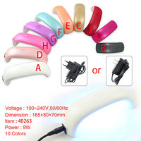 LED nail dry machine Factory wholesale #40263W 9W led finger lights