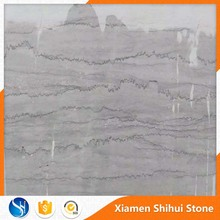 Italian High Quality Large Size Natural Grey Sliver Marble