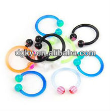 Mixed Color U Taper Horseshoe Nose Lip Rings Acrylic Body Piercing Jewelry