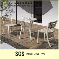 waterproof PE rattan modern design garden set table and chair outdoor patio furniture