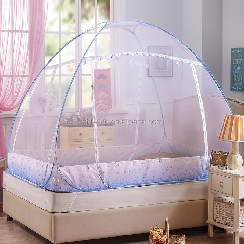 Factory supplier bedroom decoration bed canopy folding mosquito net