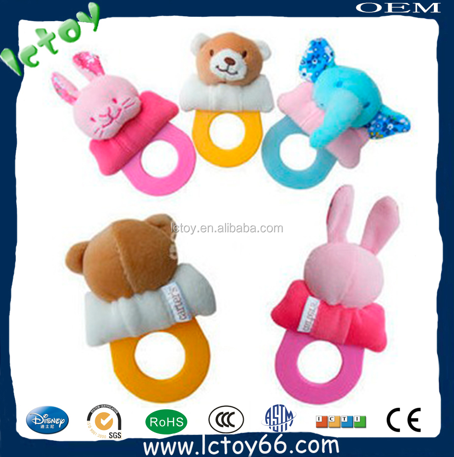 plush baby rattle toys made in shenzhen