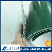 Guangdong manufacturer wholesale price anti-corrosion green used PVC & Fabric Flat conveyor belt for sale