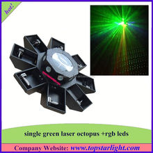 ali export from china single green+177*10mm rgb leds green laser octopus mini laser light show 12v
