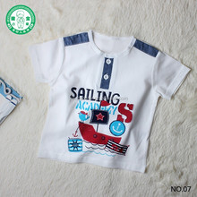 100% cotton summer boutique good quality new design baby clothes children T-shirt