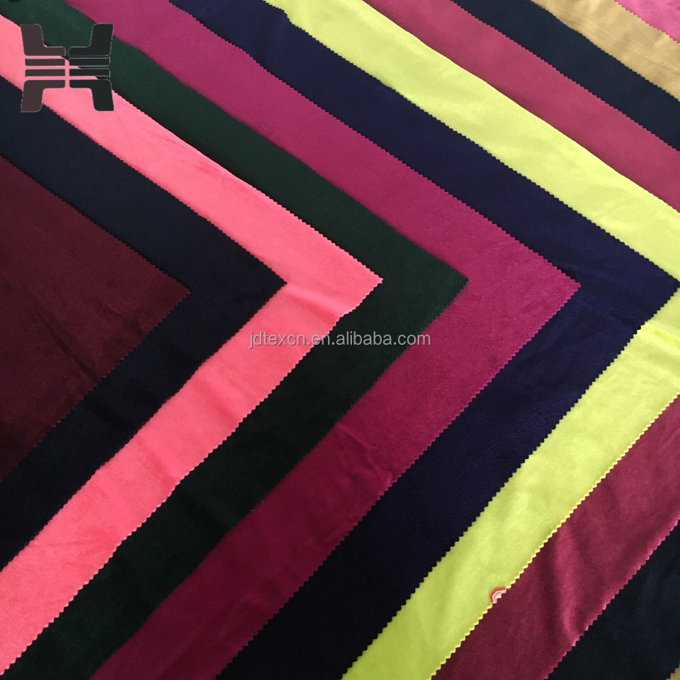 polyester spandex velvet fabric for fitness wear