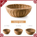 Oem chinese cheap plastic rattan handcraft bakery baskets for bread display