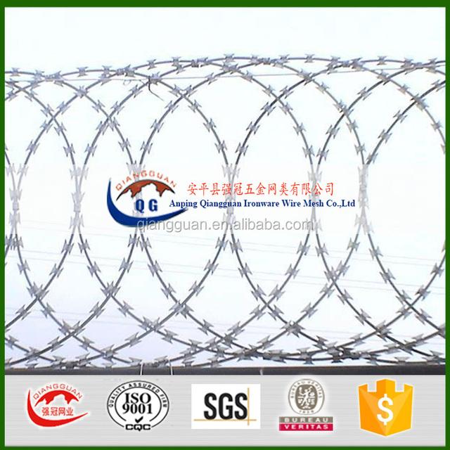 Brazil Dannert wire /RAZOR COIL BARRIERS BTO30/galvanized razor wire