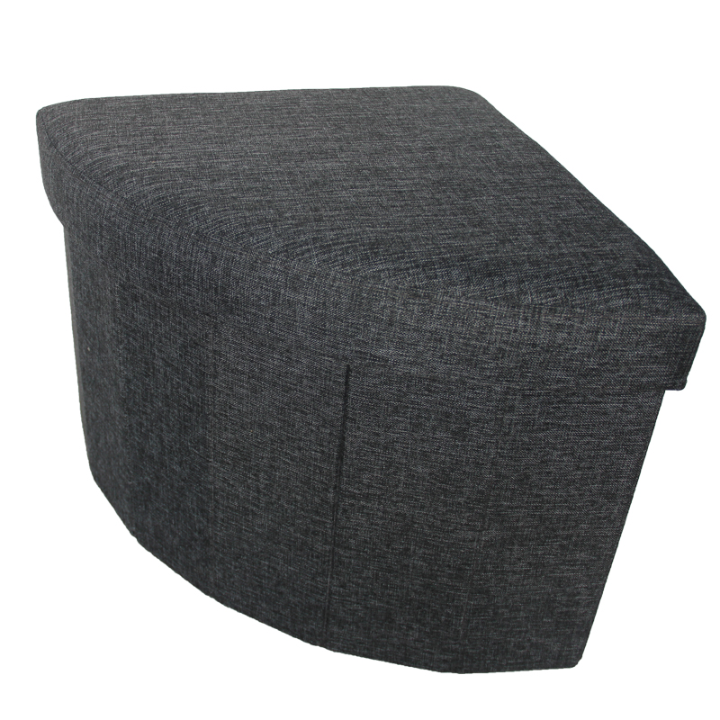 Fabric Folded Triangle Unfinished Footstool Ottoman