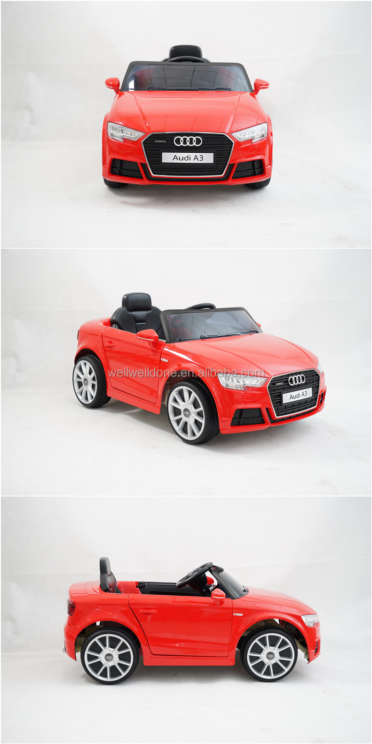 WDPBA3 Licensed newest design kids car audi , baby ride on toy with light