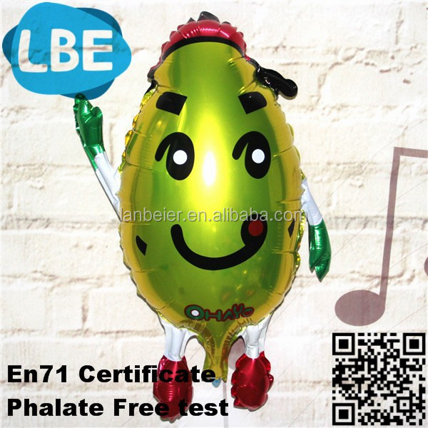 cartoon character shape foil balloon