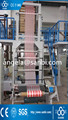 two color stripped film blowing machine