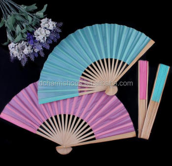 Chinese wedding decorations lace bamboo hand fan Free Shipping in low price